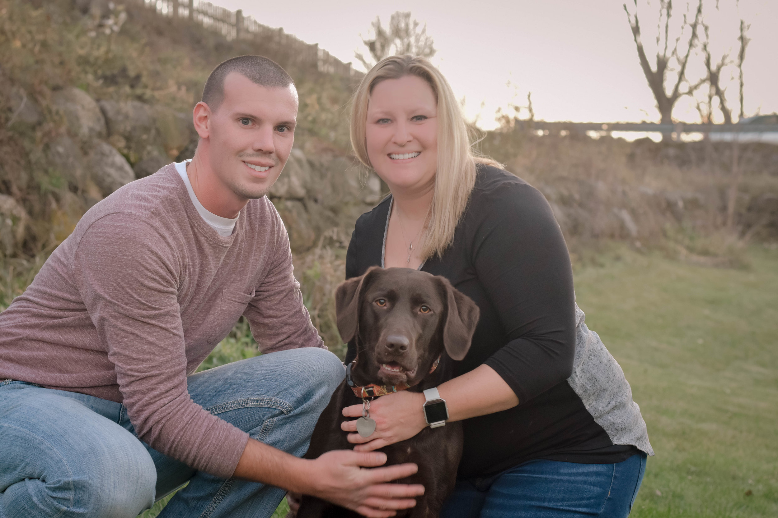 Christmas card photo with our dog, benelli