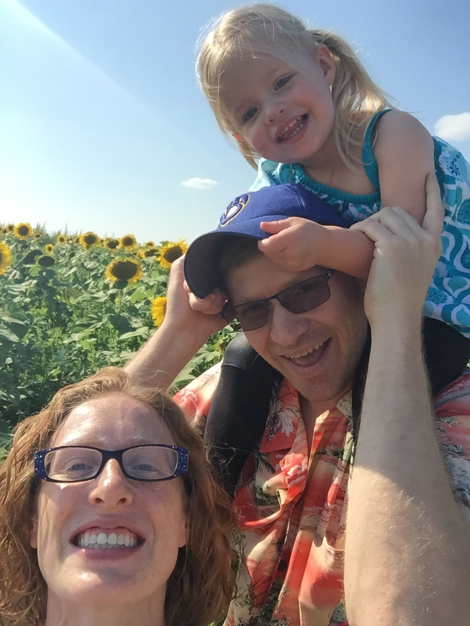 family time with the sunflowers