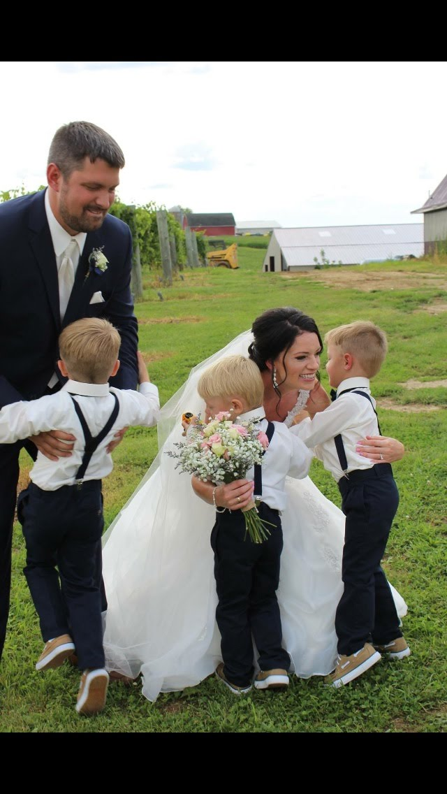 post-wedding hugs from our nephews