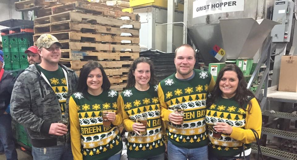 Matchy matchy! MKE Brewery tour during the Christmas holidays with Sarah's sister, brother, and sister in law