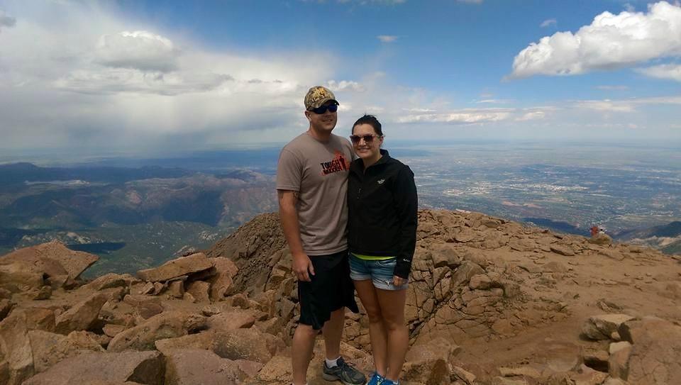 Top of Pike's Peak in Colorado Springs, CO