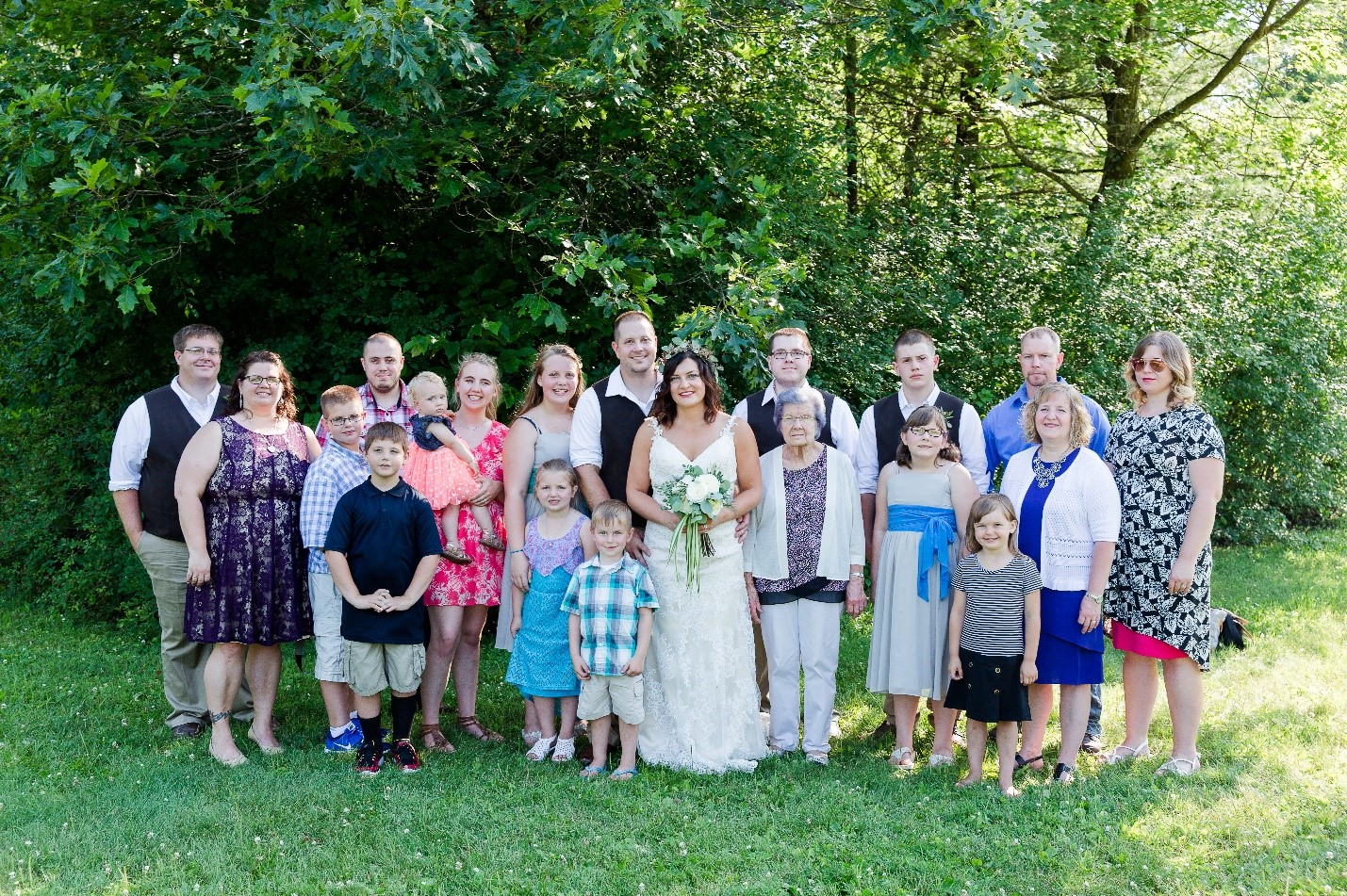 Celebrating Family on our wedding day! Pictures with Kurt's siblings, step-siblings, nieces, nephews, mom, and grandma