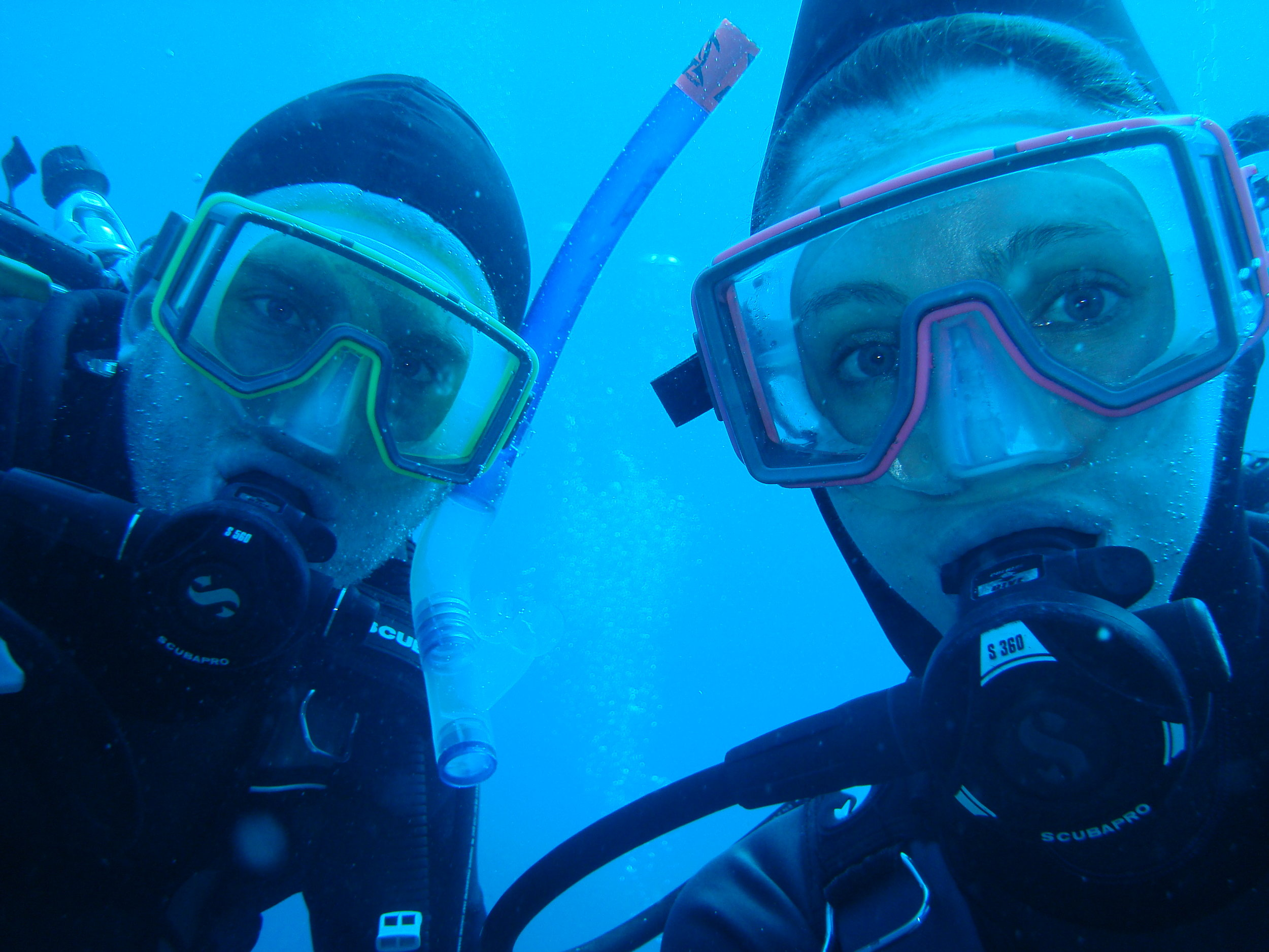 we both love to scuba dive!