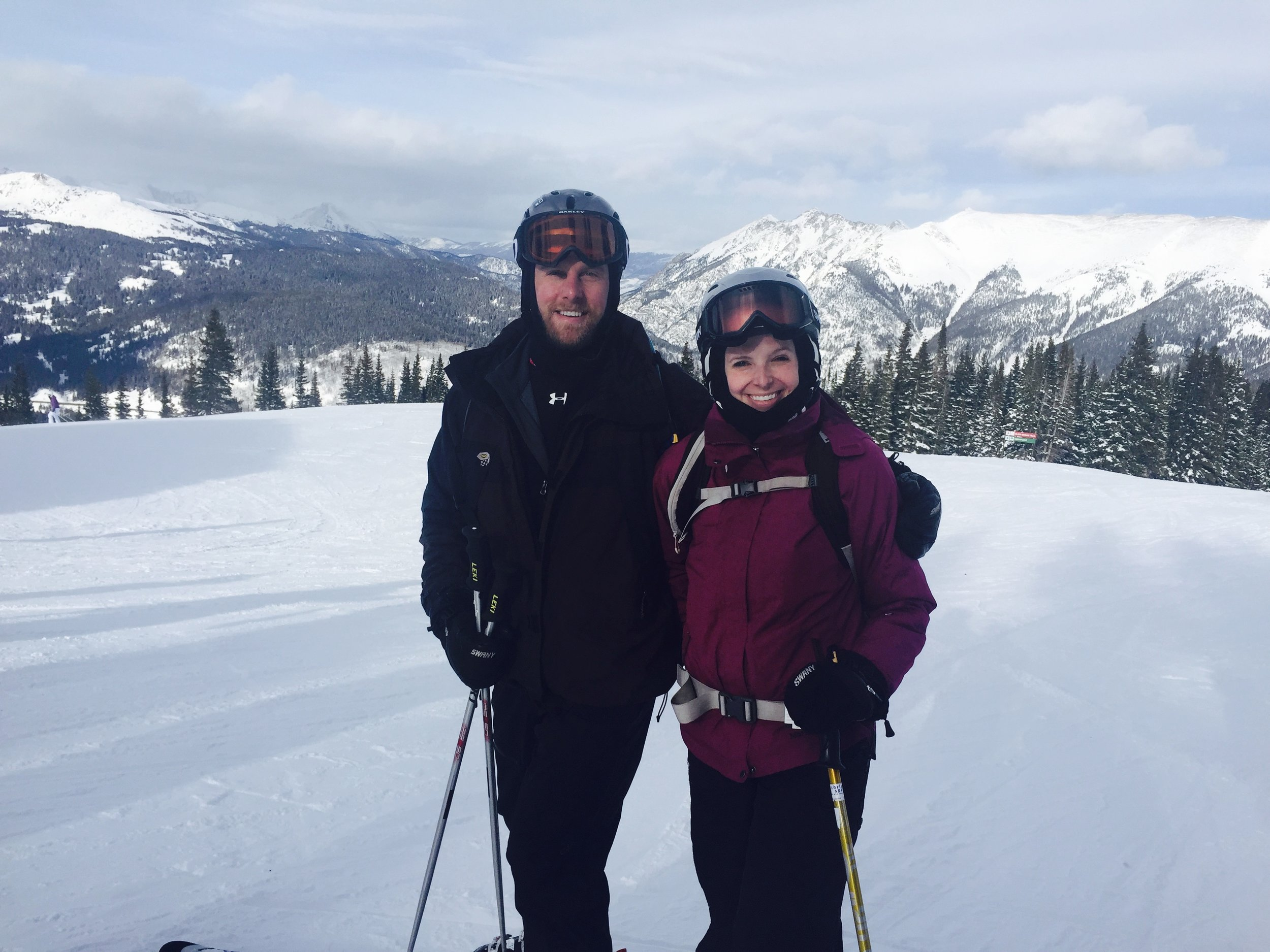 we love to go out west to ski