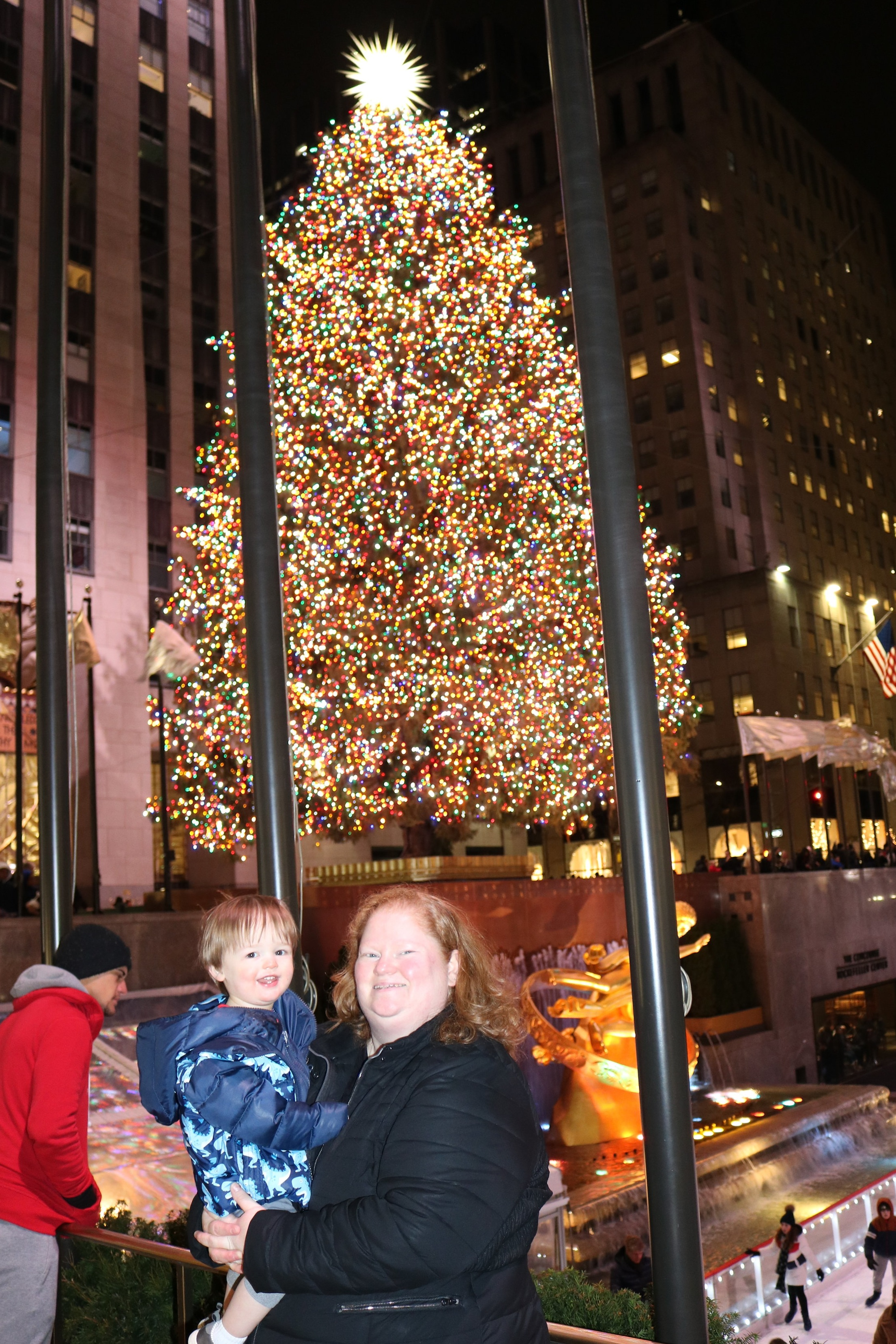 Visiting the Rockefeller Center Christmas Tree in New York