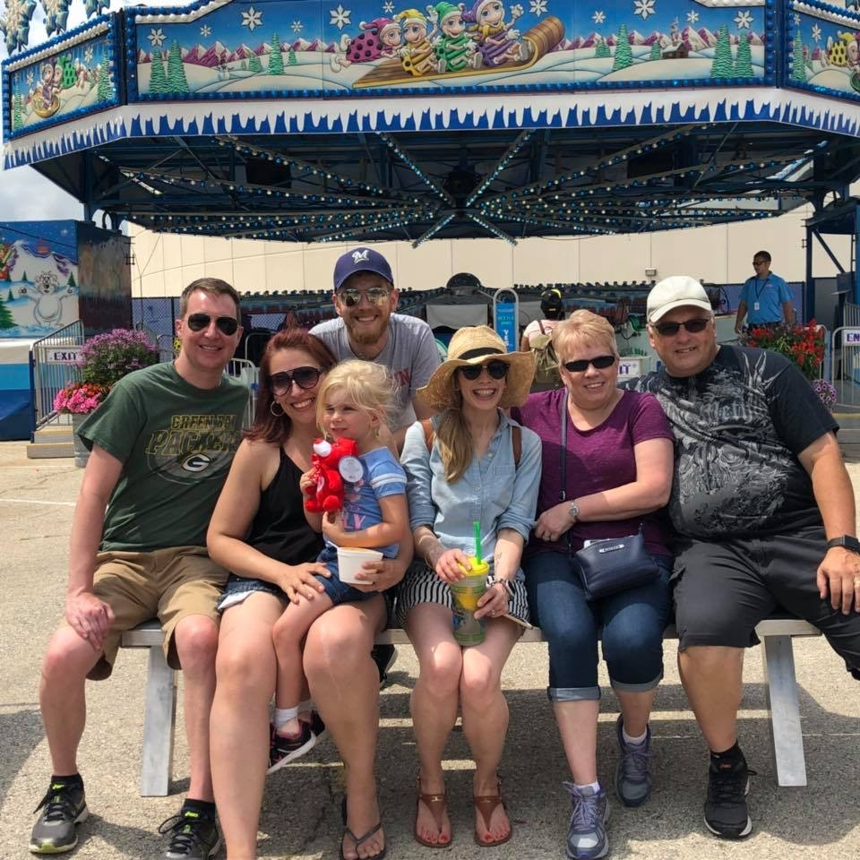 a summer is never complete without michelle's annual trip to the wisconsin state fair. cream puffs beware!