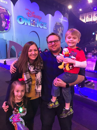 Disney on Ice with our niece and nephew
