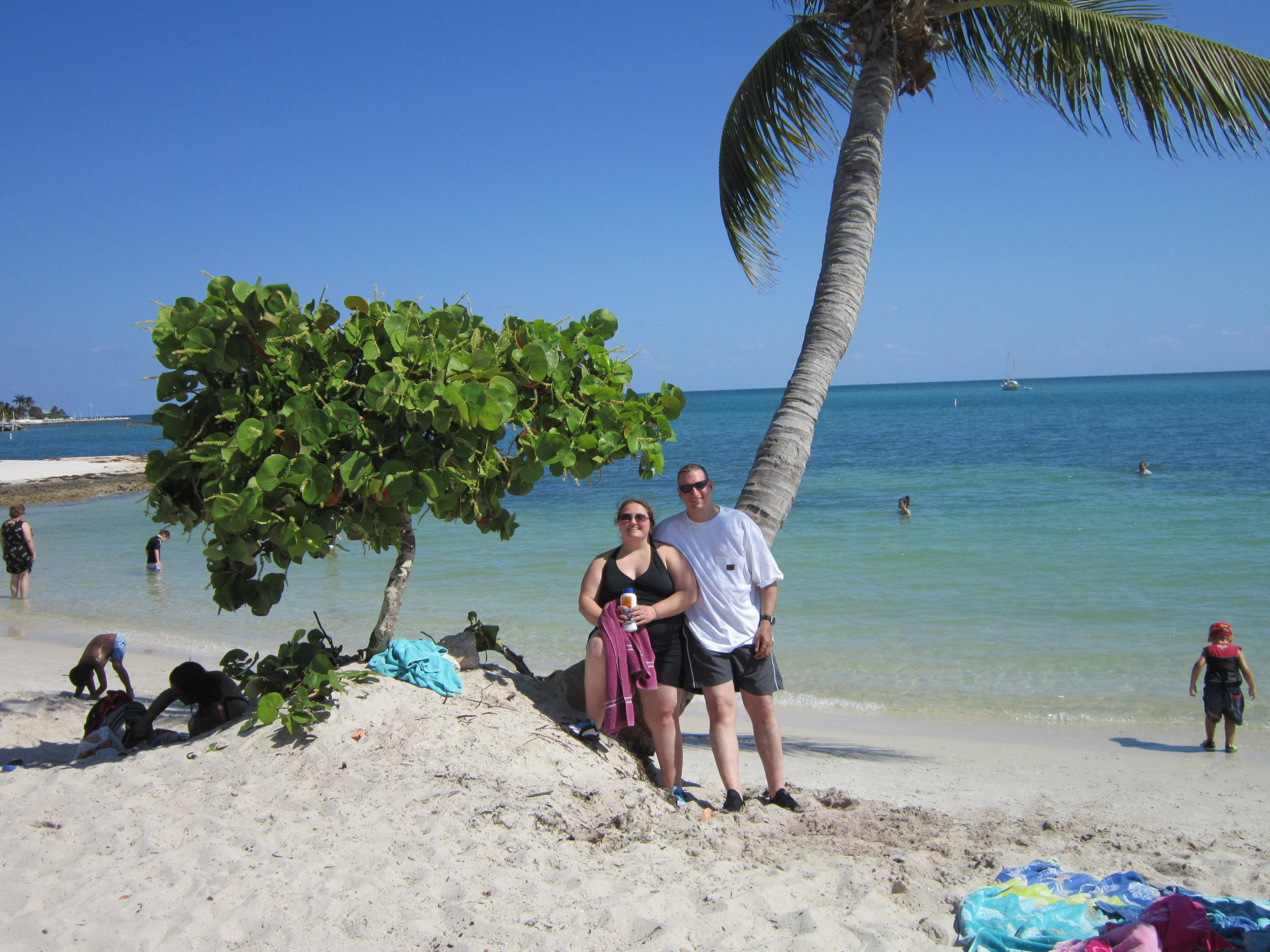 swimming in the ocean at sombrero beach in marathon key, florida