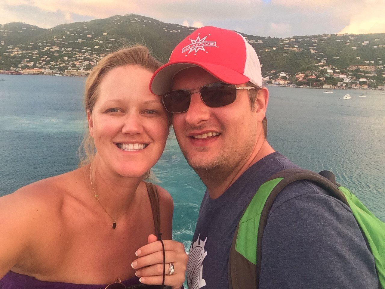 Getting some R&R in St. Thomas