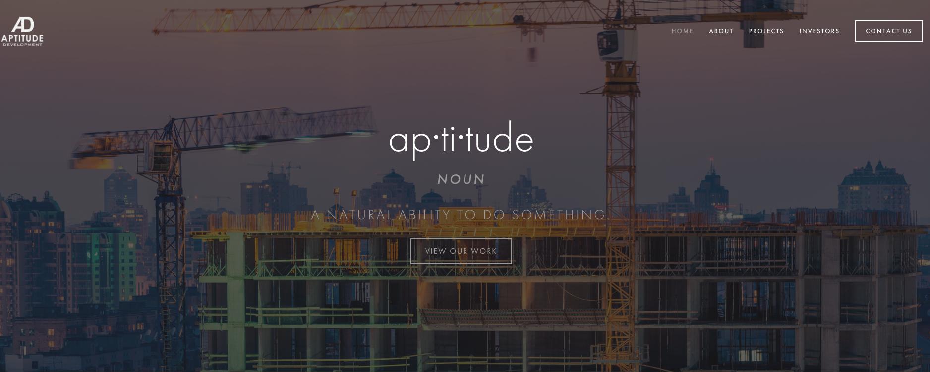 Aptitude Real Estate Development Website