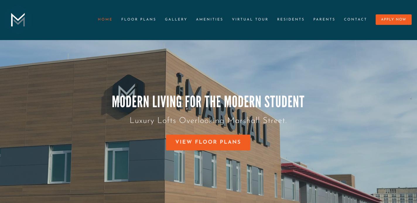 screenshot of The Marshall SU website