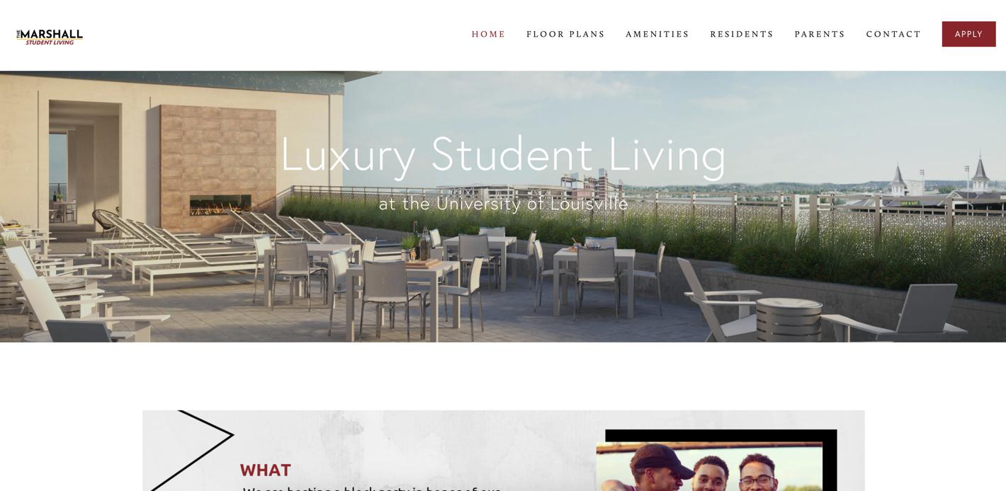screenshot of The Marshall Louisville website