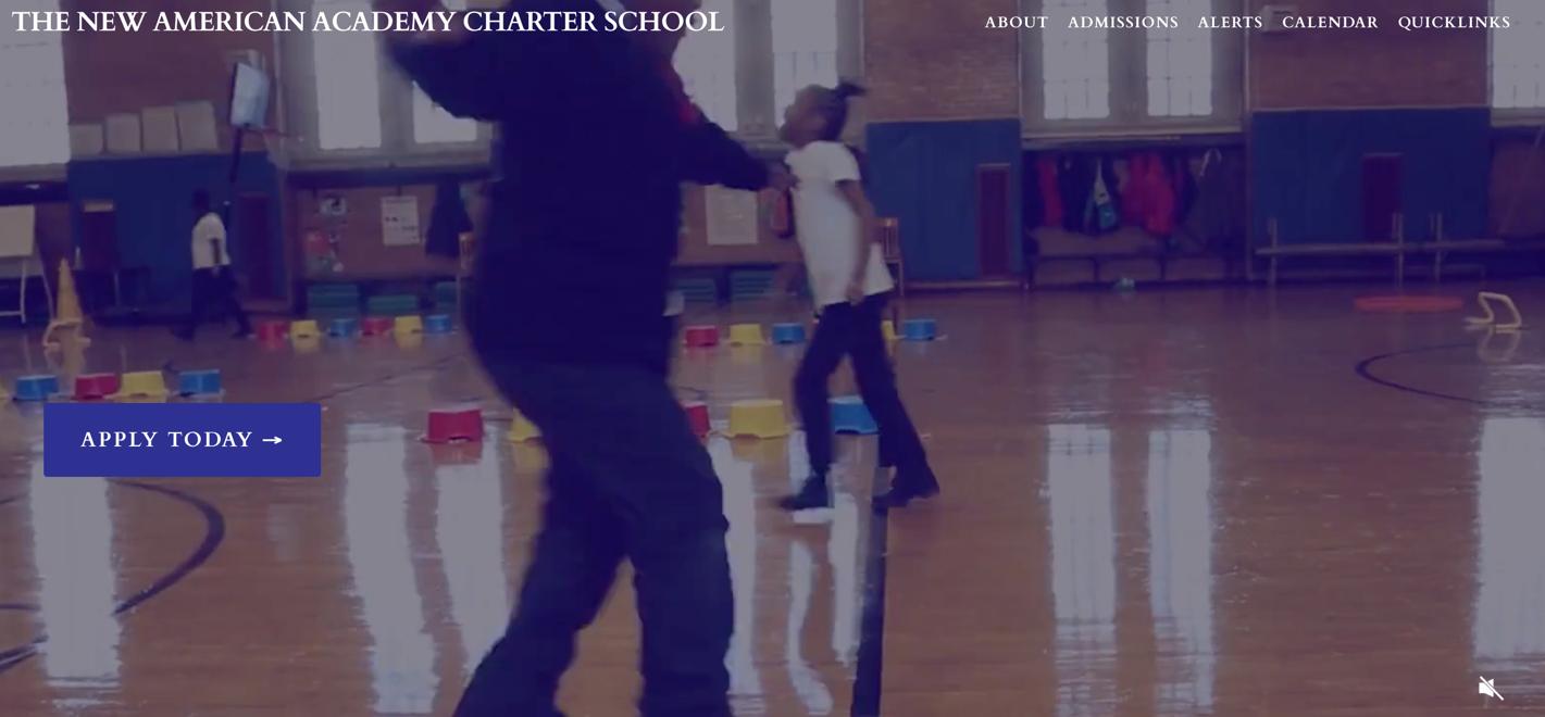screenshot of The New American Academy Charter School website