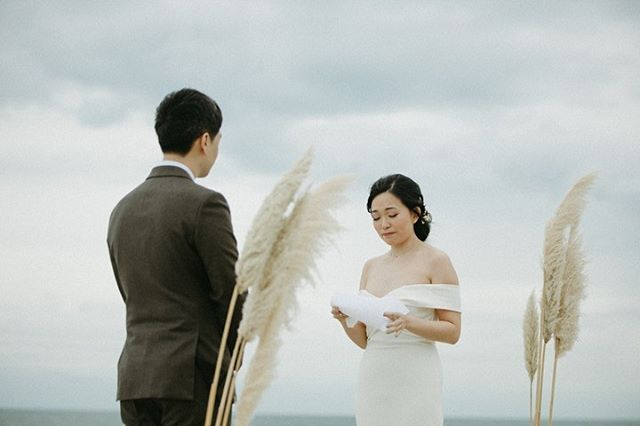 Soo Jin + Eric's wedding was especially emotional as the couple is moving to Korea this week for work. They exchanged vows at Soo Jin's parent's home with their loved ones celebrating and sending them off to their next adventure in Korea. So bittersweet sweet to witness.✨