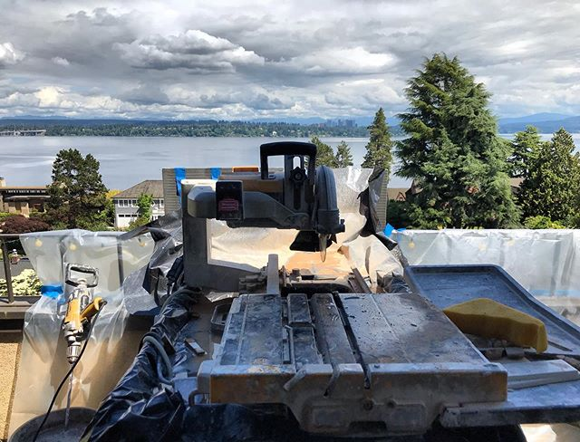 Goodbye tile saw, hello weekend! #dewalt #lakewashington #friyay #seeyoumonday