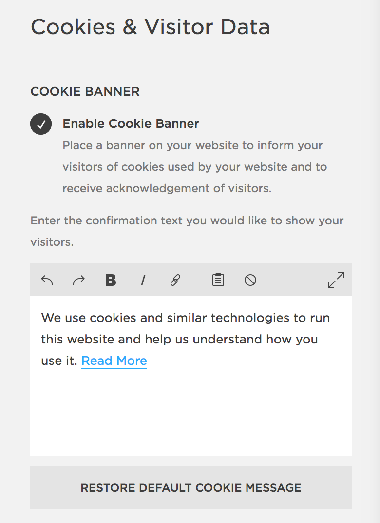 How To Customize The Eu Cookie Banner In Squarespace Station Seven Squarespace Templates Wordpress Themes And Free Resources For Creative Entrepreneurs