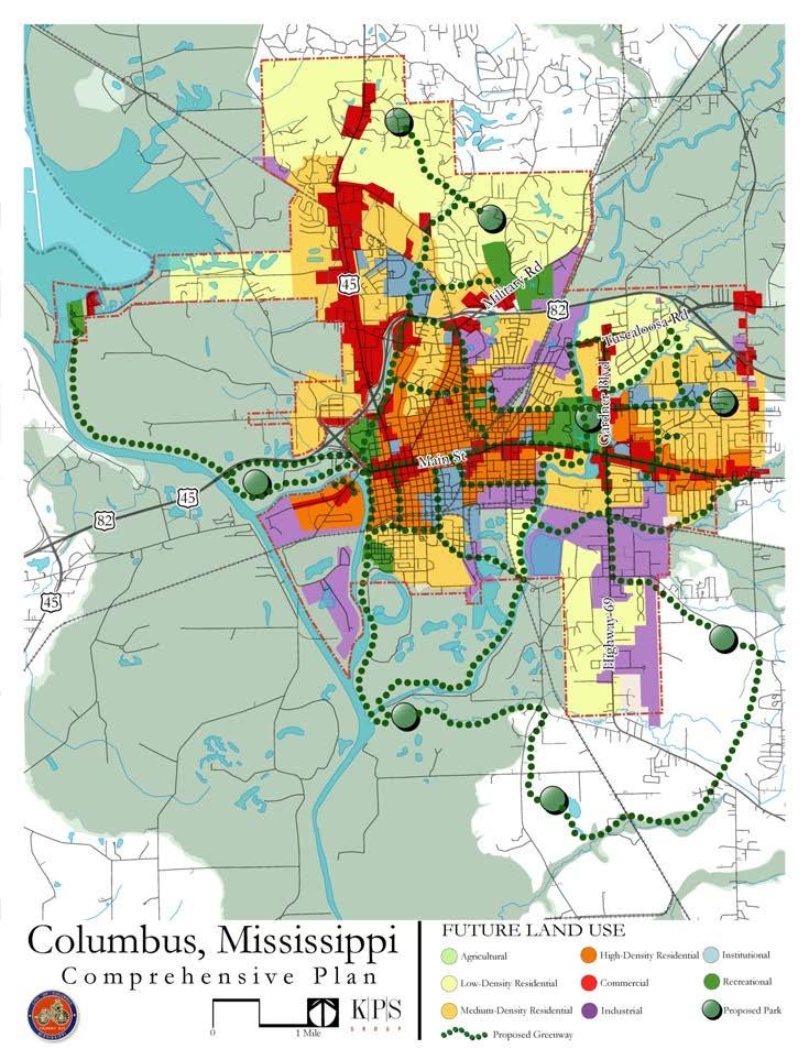 Columbus Future Land Use Map