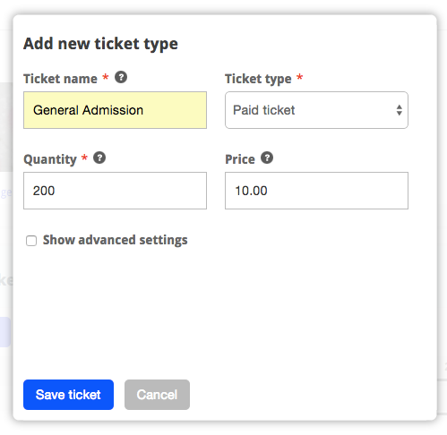 Add Tickets to your event