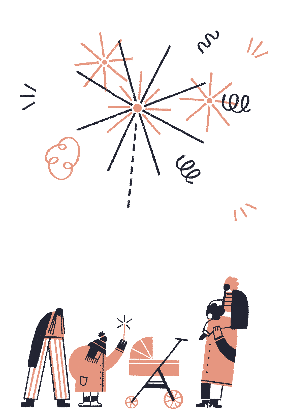 Family Watching Fireworks.png