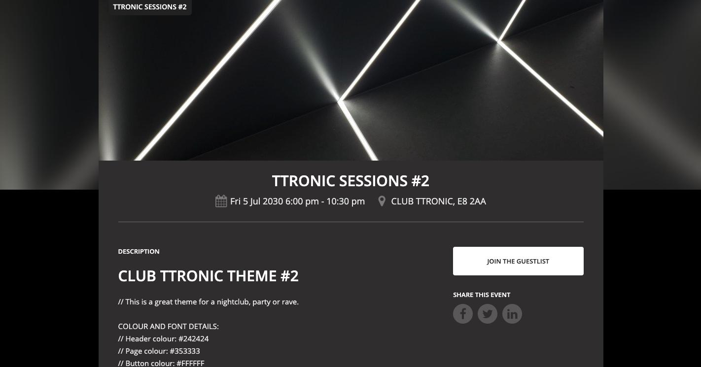 TTRONIC THEME