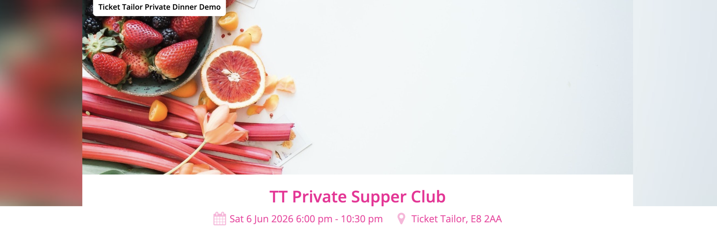 Sell tickets for a private dinner party