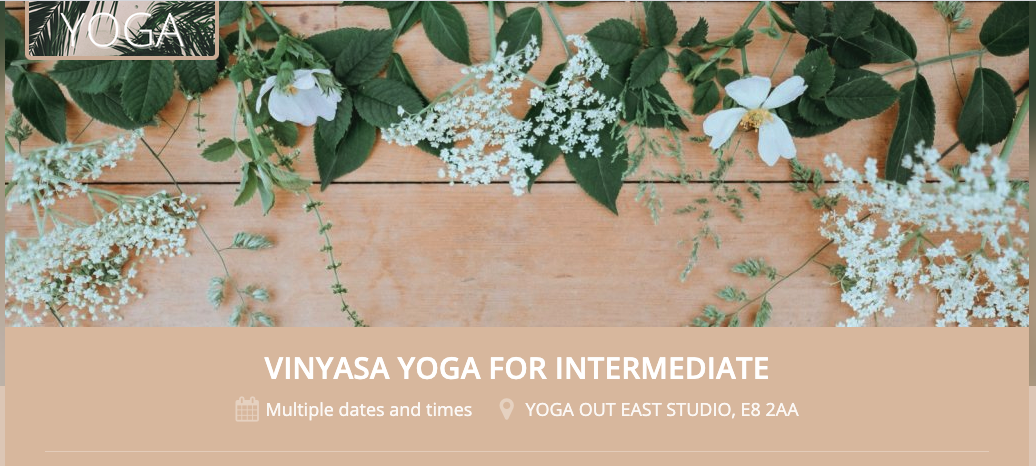 Sell tickets for a yoga class