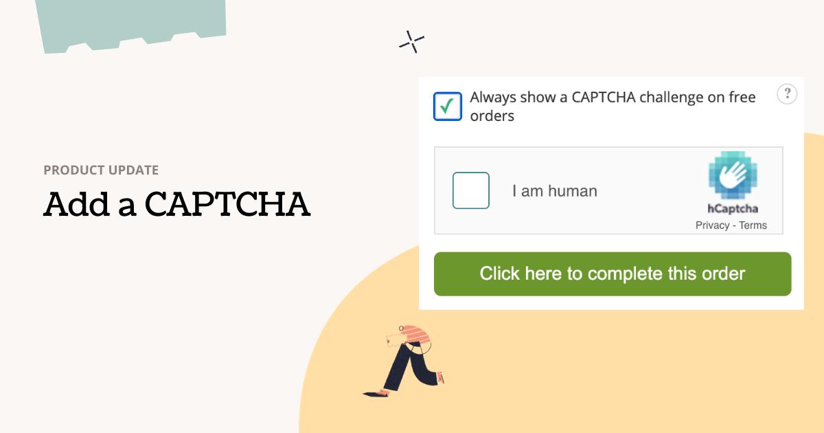 Add a captcha