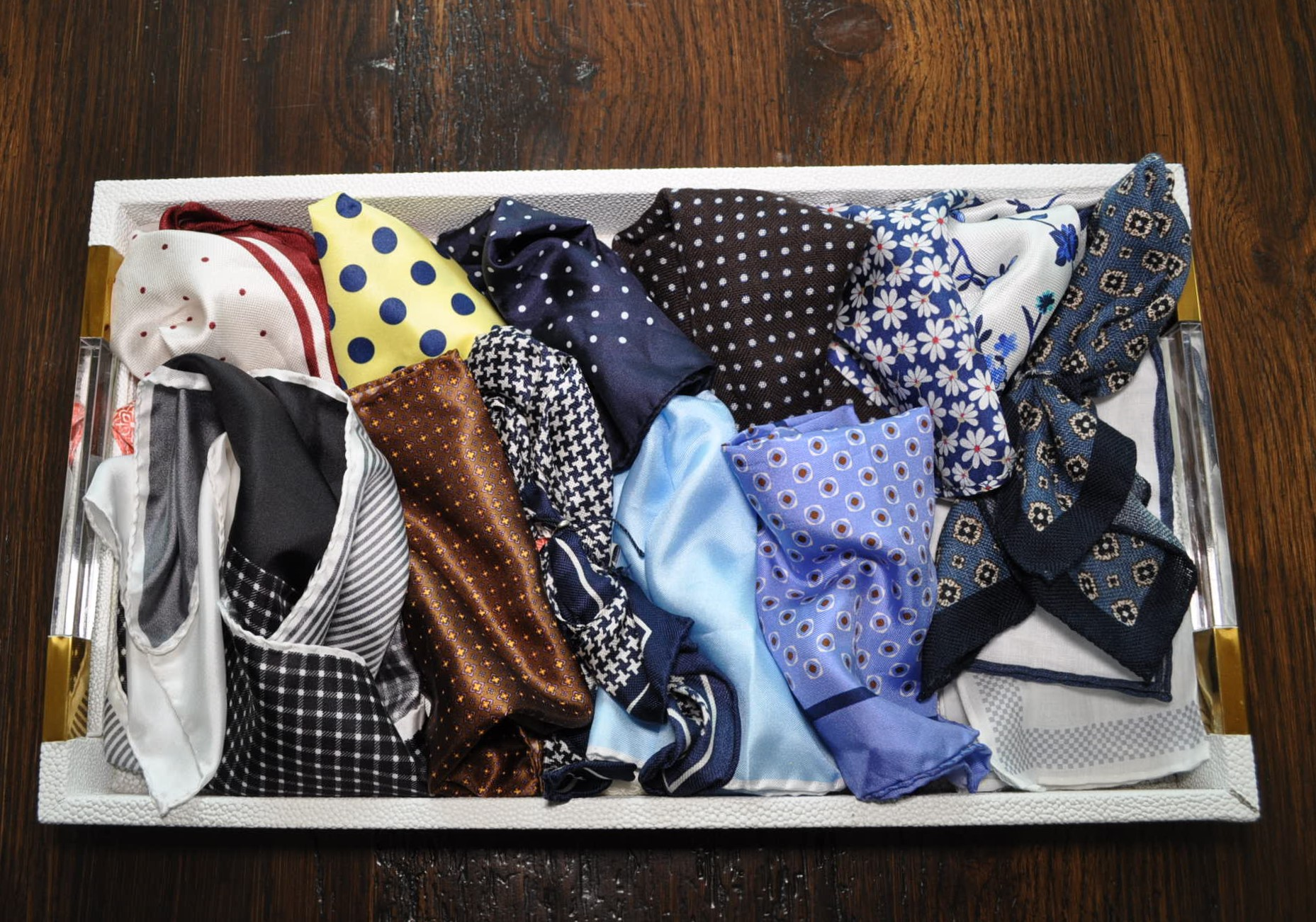 Once I figured out how to use pocket squares, I fell in love! - Now, I confess, I have lots of them.