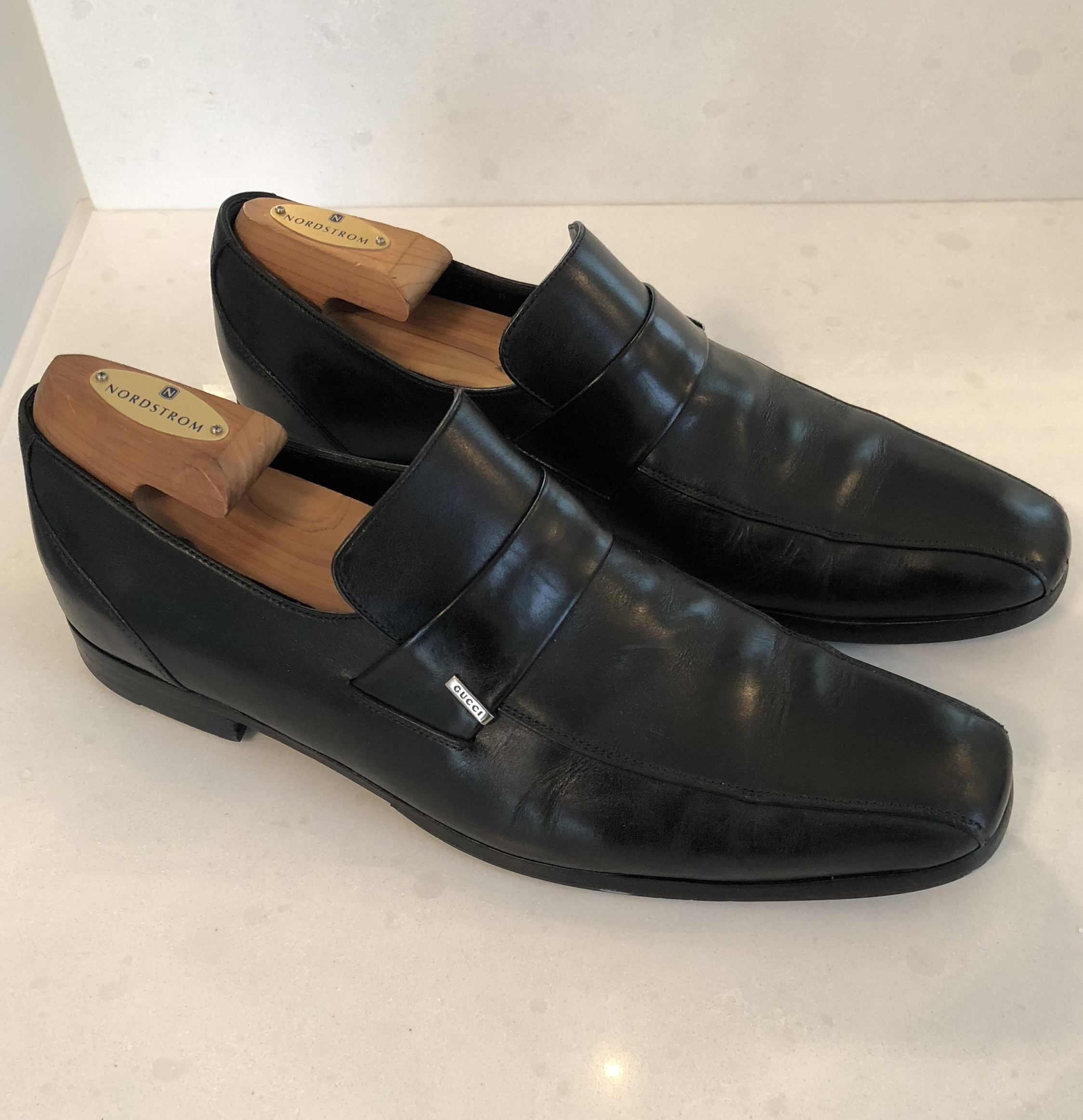Like these black Gucci slip-ons.
