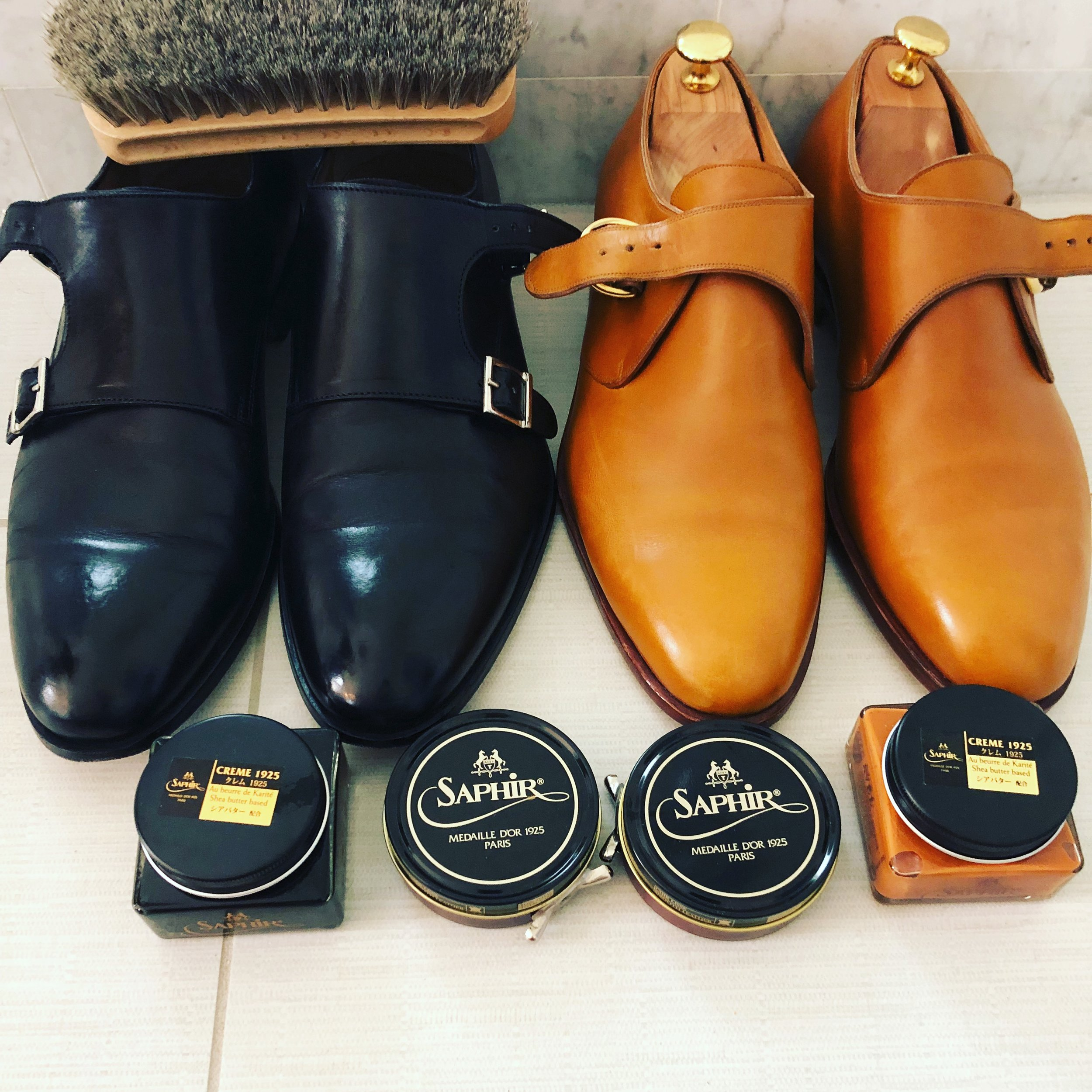 I love monks! Black double monks by AceMarks and Brown single monks my Mannina Firenze.