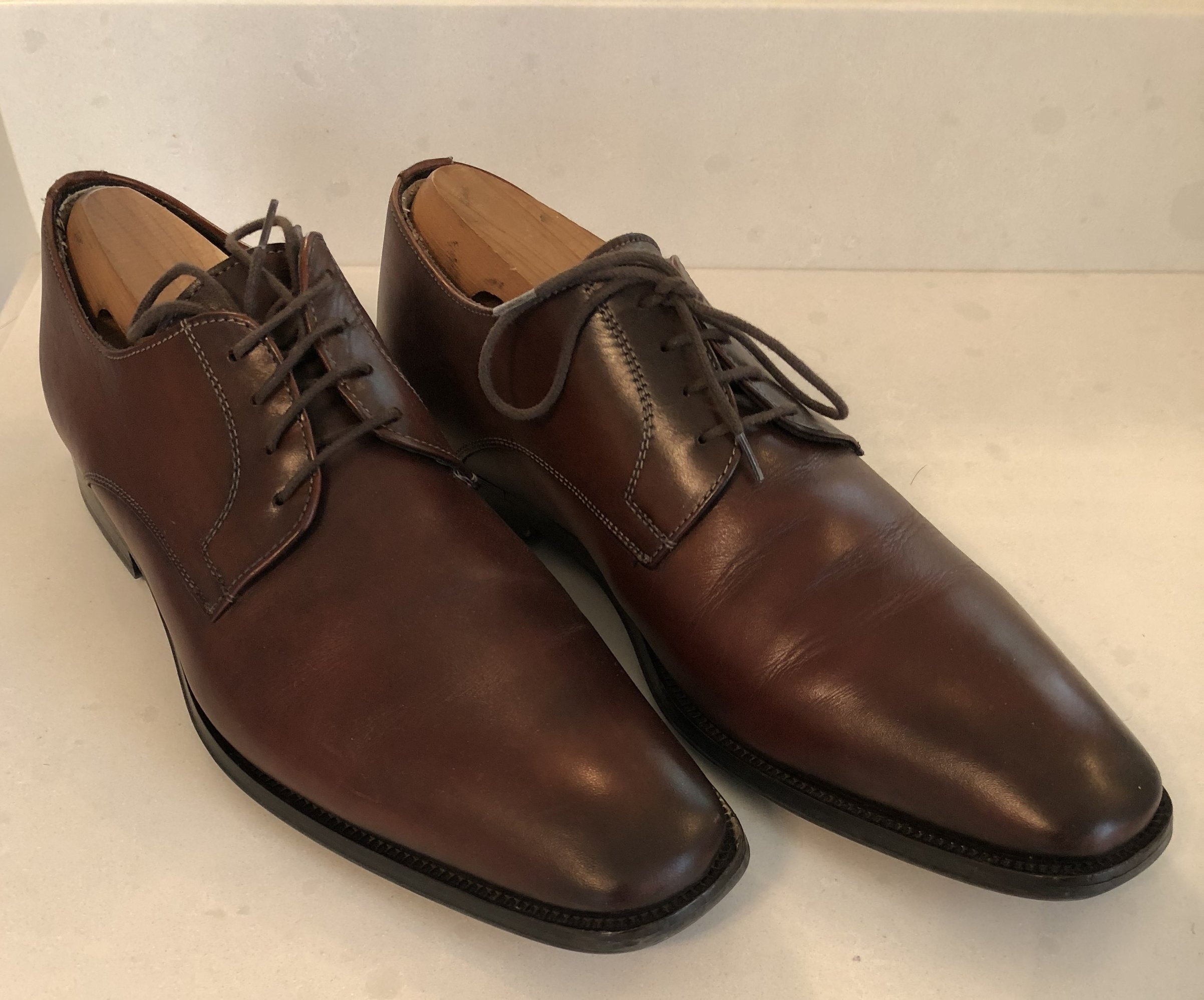 Like these cordovan shoes by To Boot New York.