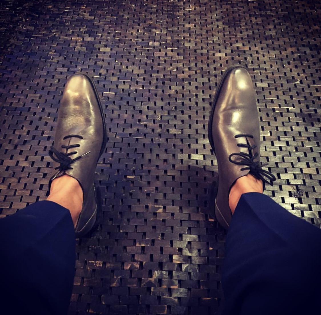 Like these grey Mezlan kicks.