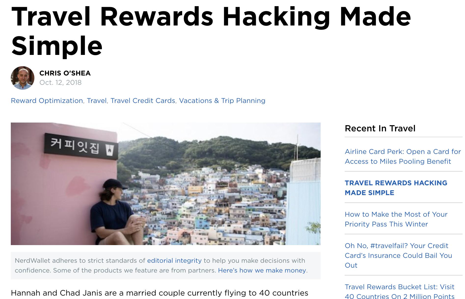 NerdWallet - Travel Rewards Hacking Made Simple