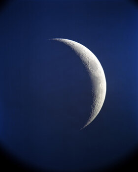 BARBARA BOSWORTH    The Crescent Moon (3 days off new) , 2010 Archival pigment print 40 x 30 inches Edition of 5, signed Retail framed: $7,500 © and courtesy Barbara Bosworth; framing courtesy Gallery Frames   Learn More