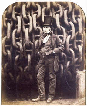 "ROBERT HOWLETT    Isambard Kingdom Brunel,  1857/1985   Photogravure from original albumen print Edition of 300 produced as part of ""The Golden Age of British Photography"" portfolio [Aperture Foundation, with the Victoria and Albert Museum and the Philadelphia Museum of Art] 10 x 12 inches Retail framed: $500 Courtesy Caryl Baron     Learn More"