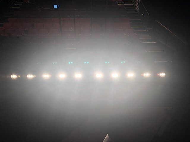 Focus for #polyphone at @brindschool • • • #lighting #lightingdesigner #footlights #newmusical #theatre #lettherebelight