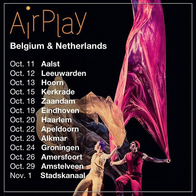 After a full fringe season, I'm heading to Europe with the @acrobuffos and AirPlay #lightingdesign #lightingsupervisor #europeantour #tour #airplay #netherlands #clowns