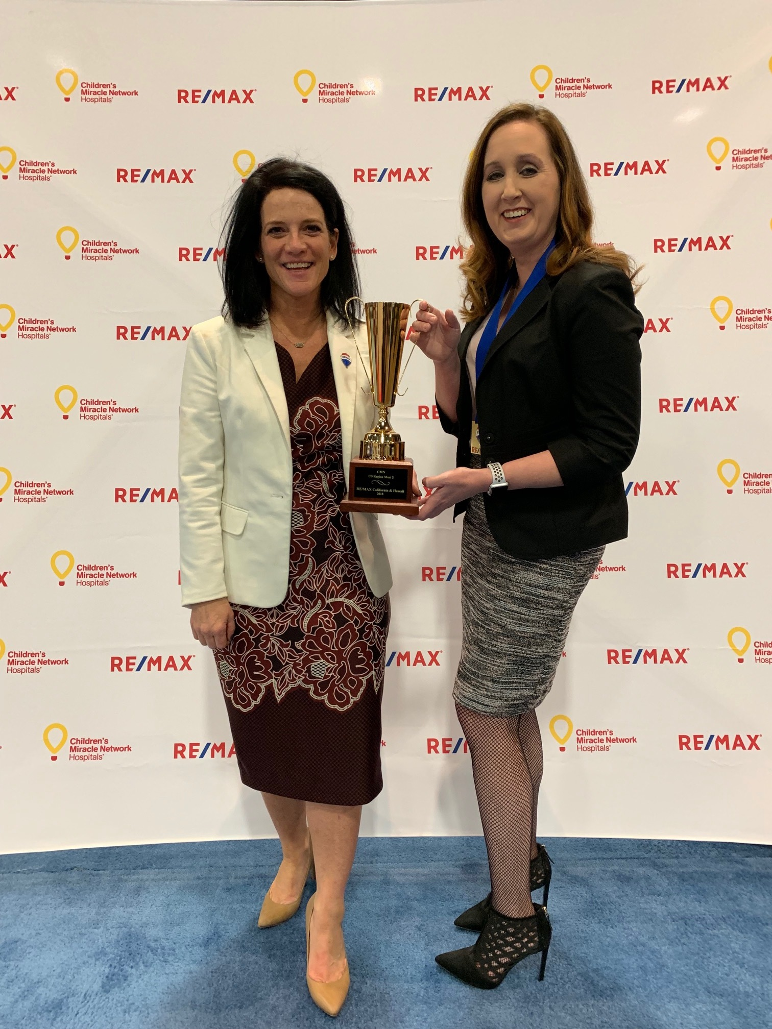 Jackie Schaible from RE/MAX California & Hawaii (Left) with Stephenie Flood, Vice President of Operations (Right)