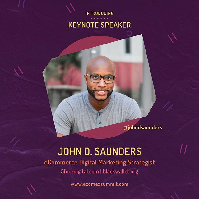 *Speaker Announcement* 📣 Please meet @johndsaunders, #keynote speaker at our very 1st @ecomexsummit! We know John, based in Orlando, FL, has a wealth of relatable, actionable insights, inspiration and information that he can't wait to share. We'll be hearing more from John in the coming days, but for now, go check n follow his page and grab a ticket to be in the room to hear John BLOW US AWAY!! #eComExSummit2019 #PoweredbyBraataBox #Jamaicanmade