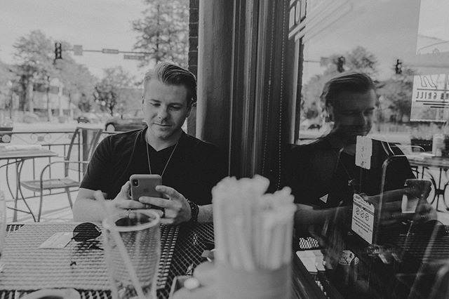 """Typically on the 📱 check out the new lyric video for """"Tear"""" ✌🏻✌🏻 link in bio - lyric video created by @nicklew72 📷 @ivywildvisuals"""