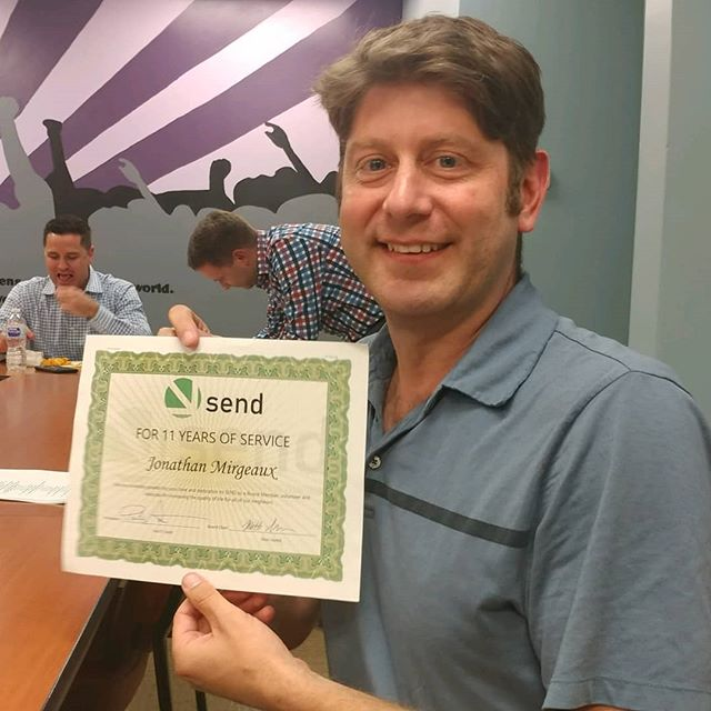 Thank you Jonathan Mirgeaux for over 11 years of service and leadership on the SEND Board!