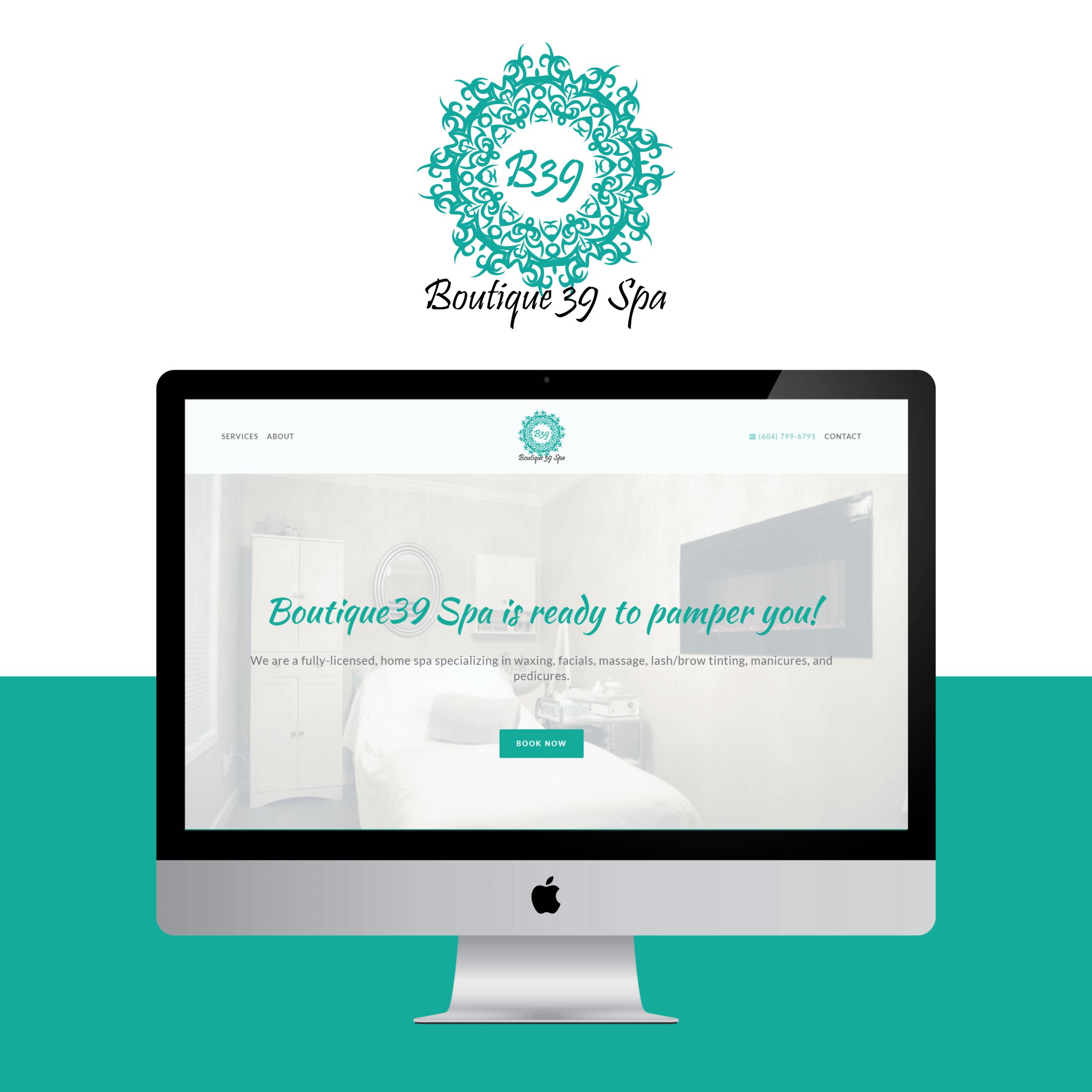 squarespace website design boutique39spa