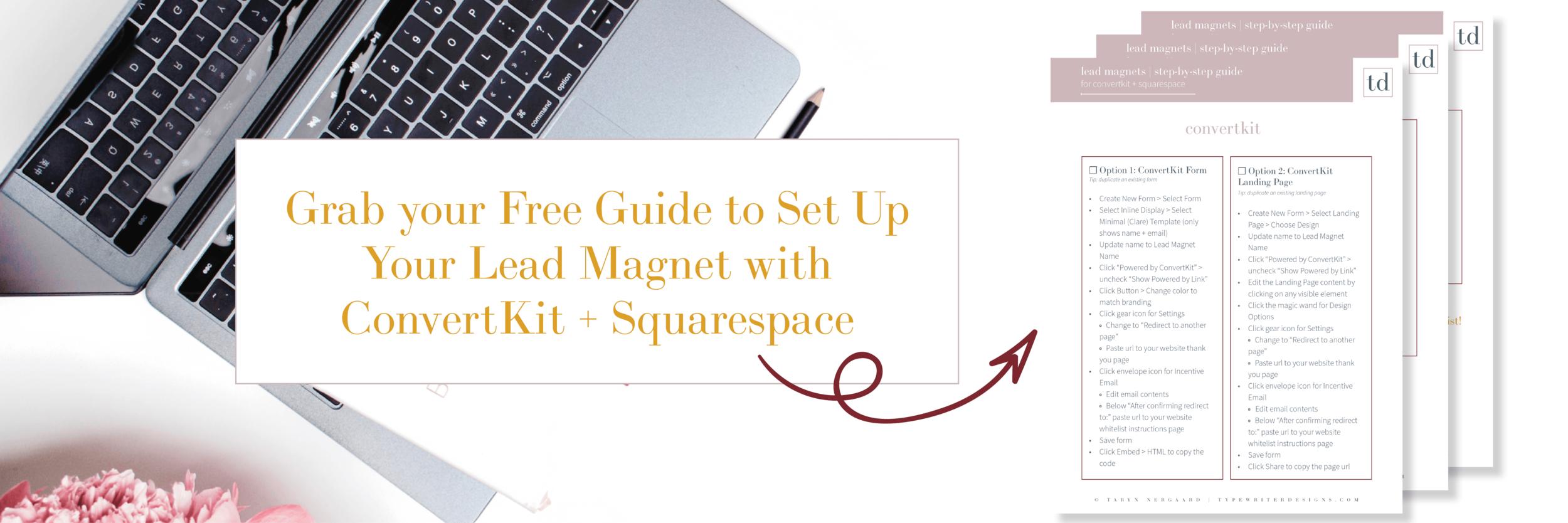 guide lead magnet convertkit squarespace