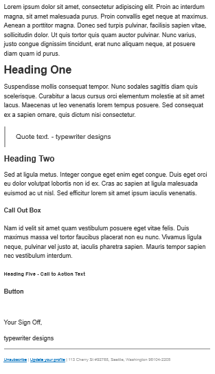 convertkit email modern template before