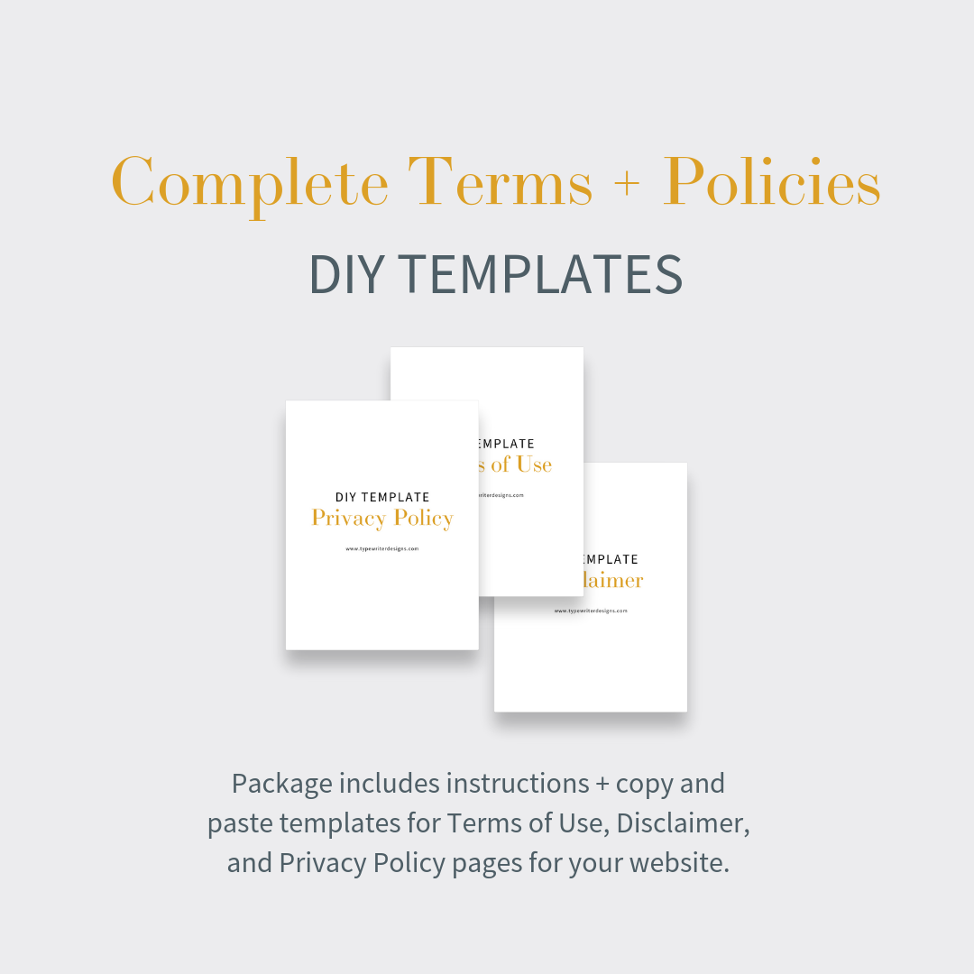 website terms and services templates