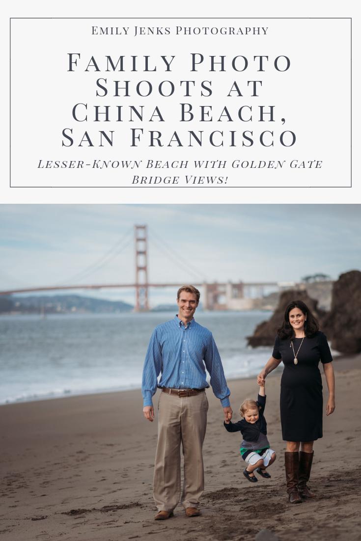 Golden Gate Bridge Photo Shoot in San Francisco's China Beach near Baker Beach