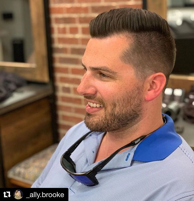 We aren't just all about the ladies...our experienced, knowledgeable staff takes excellent care of the guys as well. Haircuts, waxing and facials are available for him too.