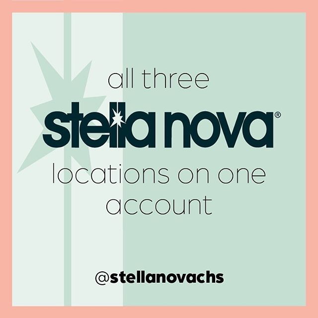 We are excited to announce that amazing photos from all 3 Stella Nova locations will now be shared from one account ✨ @stellanovachs ✨Please make sure to follow this account to see our beautiful 'before & after' hairstyles, must use products, bridal updo's and more! 🌞 ⠀⠀⠀⠀⠀⠀⠀⠀⠀ ⠀⠀⠀⠀⠀⠀⠀⠀⠀ #stellanovachs #stellanova #charlestonspa #charlestonsalon #hairsaloncharleston #hairsalon #beautysalon #haircuts #haircutforwomen #hairstyle #hairoftheday #haircolorist #haircare #haircoloring #highlights #balayage #updos #scalpcare #blowouts #facials #waxing #makeup #massage #nails #hairproducts #spacharleston #charlestonnails #charleston #charlestonsc