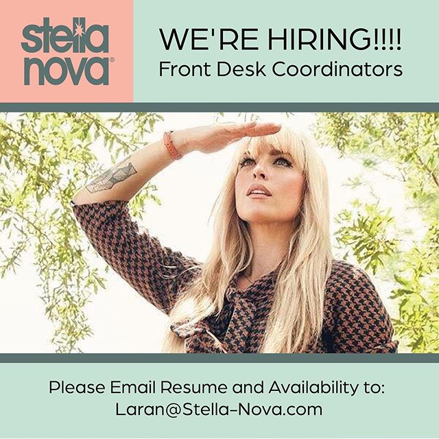 ⭐️WE'RE HIRING!!!!⭐️ Front Desk Coordinators ⠀⠀⠀⠀⠀⠀⠀⠀⠀ Are you Hardworking, Friendly, Outgoing, Good at Multi-Tasking, and do you have Excellent Customer Service Skills? Make it a beautiful day at Stella Nova!! 🌞 ⠀⠀⠀⠀⠀⠀⠀⠀⠀ Please Email Resume and Availability to: Laran@Stella-Nova.com ⠀⠀⠀⠀⠀⠀⠀⠀⠀ @charlestonjobs  #stellanovachs #stellanova #charlestonspa #charlestonsalon #hairsaloncharleston #hairsalon #beautysalon #jobs #charlestonjobs #charleston #charlestonsc