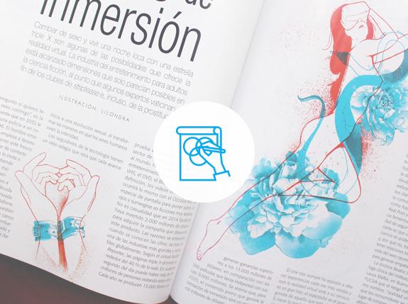 Ilustración - La ilustración es uno de los procesos que hacen parte importante de la producción y uno de los proceso que aportan significativamente a la interpretación y apreciación del contenido editorial. Como parte de nuestro equipo, Liliana Ospina, ilustradora colombiana, pone a tu disposición su talento para aportar elementos gráficos ilustrados acordes con el contenido, y que se convierten en un elemento fundamental para el posicionamiento del proyecto editorial.